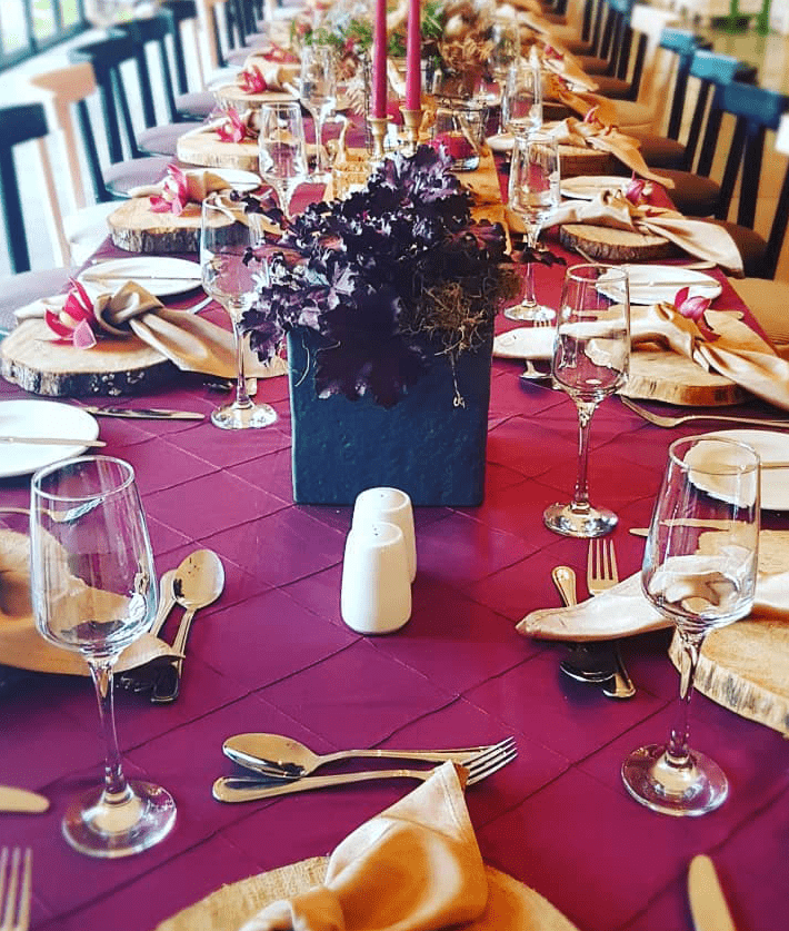 Table setting at event